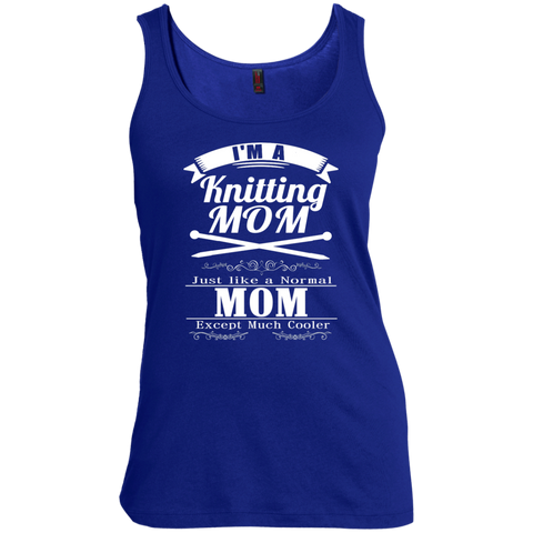 I'm a Knitting Mom just like a normal Mom except much cooler   Women's  Scoop Neck Tank Top