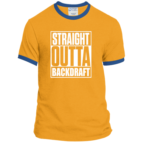 Straight Outta Backdraft Firefighter Ringer Tee