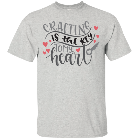 Crafting is the key to my heart   Cotton T-Shirt