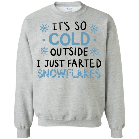 It's so cold outside i just farted snowflakes sweatshirt