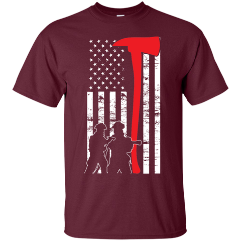 Firefighter Flag   T-Shirt