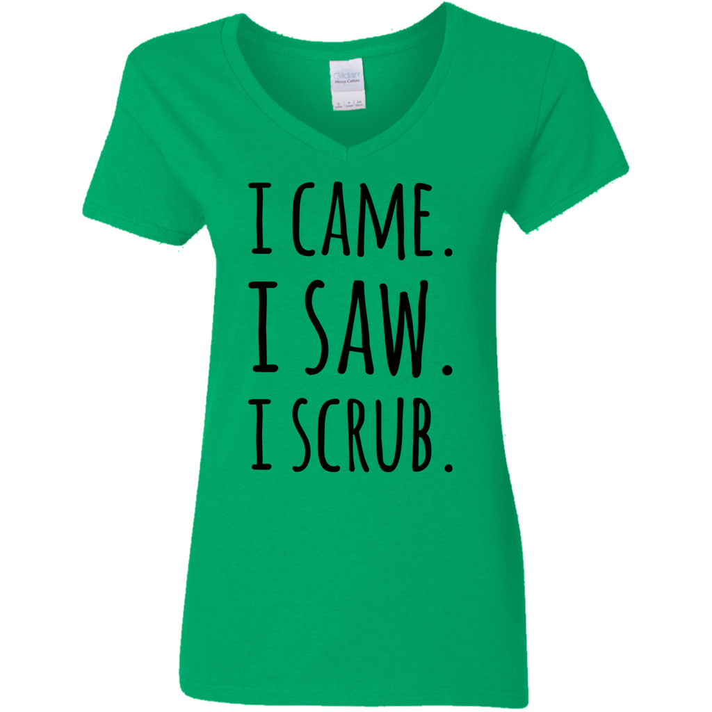 I Came. I Saw. I Scrub  Ladies V Neck Tshirt
