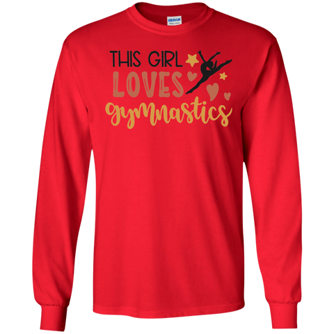 This Girl loves gymnastics LS Tshirt