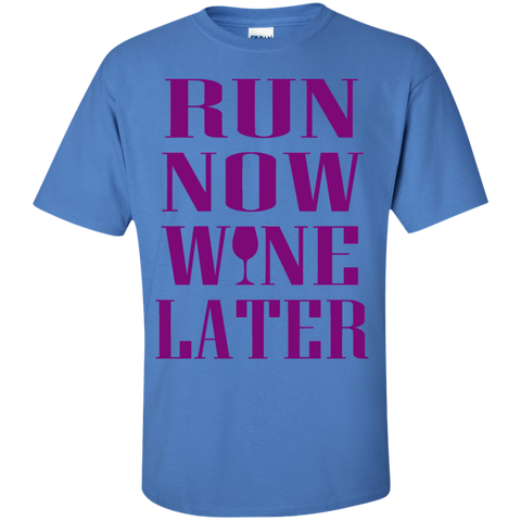 Run Now Wine Later Cotton T-Shirt