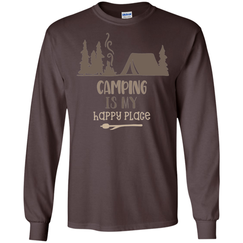 Camping is my Happy Place  LS Tshirt