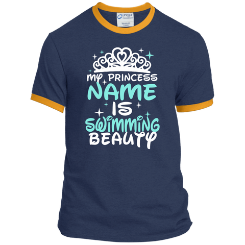 My Princess Name Is Swimming Beauty Ringer Tee