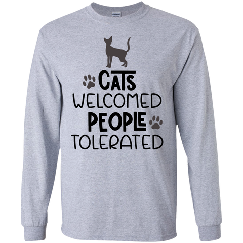 Cats welcome people tolerated LS Tshirt