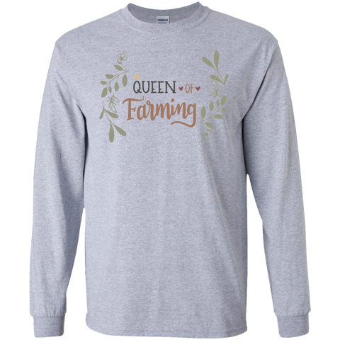 Queen of Farming  LS Tshirt