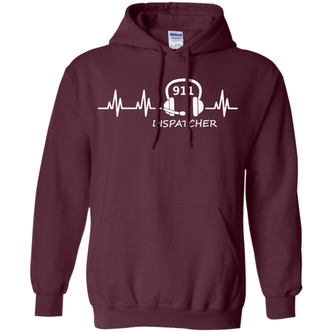 911 Dispatcher Heartbeat Hoodie 8 oz