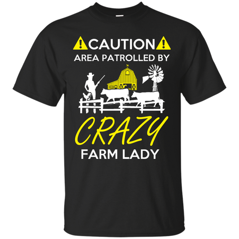 Crazy Farm Lady  Cotton T-Shirt
