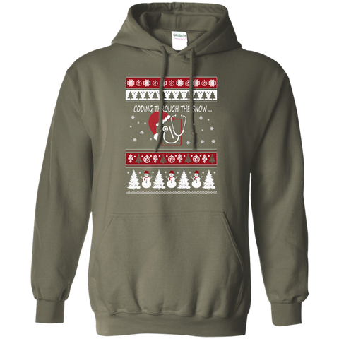 Coding Through the Snow  Hoodie 8 oz