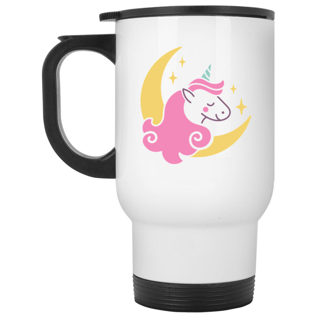 Enchanted Unicorn White Travel Mug