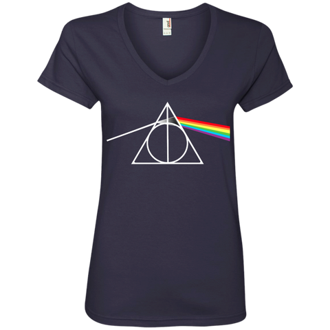 DARK SIDE OF THE HALLOWS    V-Neck Tee
