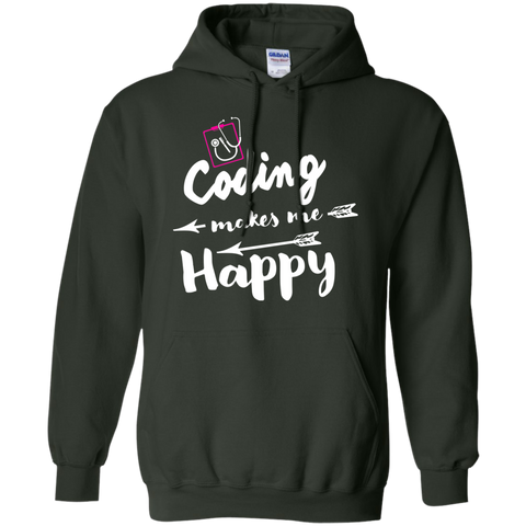 Coding makes me happy  Hoodie