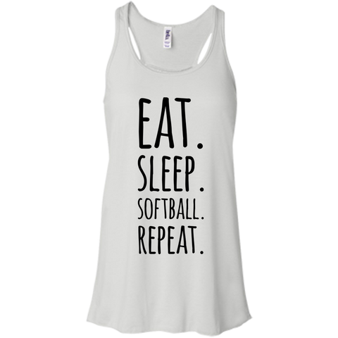 Eat  Sleep Softball affordable   Flowy Racerback Tank