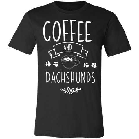 Coffee and dachshunds   T-Shirt