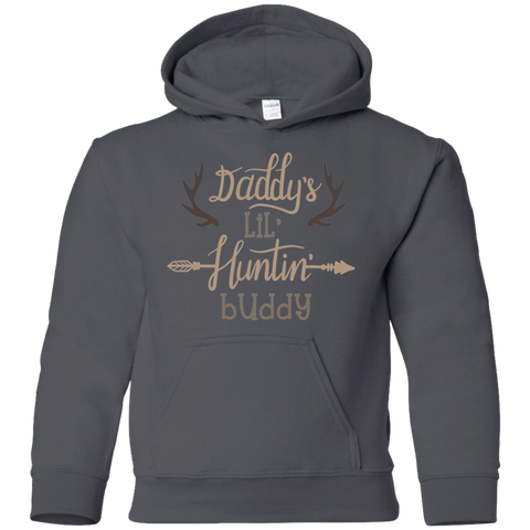 Daddy's Lil Huntin' Buddy Youth Pullover Hoodie