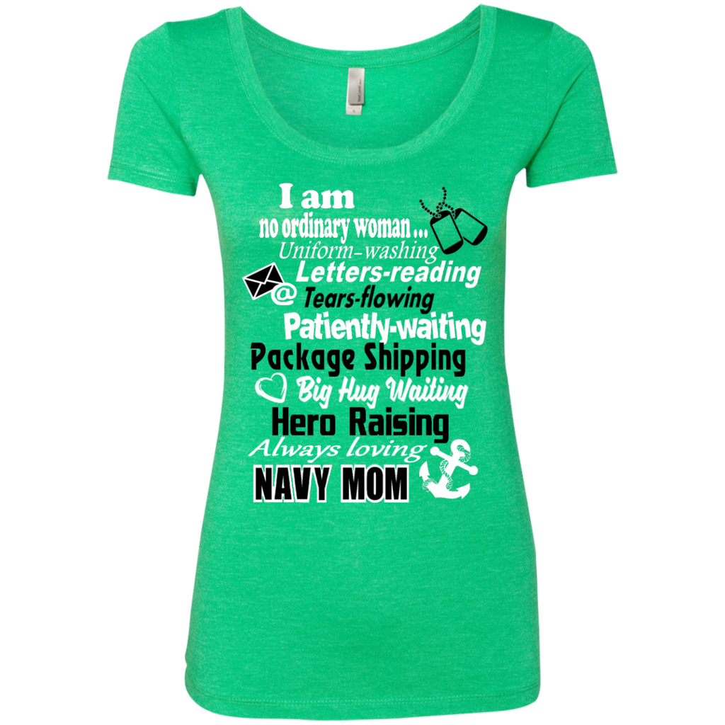 I am a Navy Mom Next Level Ladies Triblend Scoop