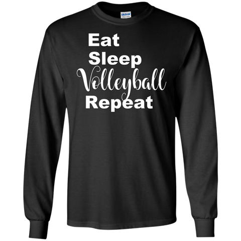 Eat Sleep Volleyball Repeat  LS  T-Shirt