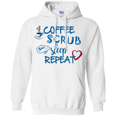 Coffee Scrub Sleep Repeat   Hoodie