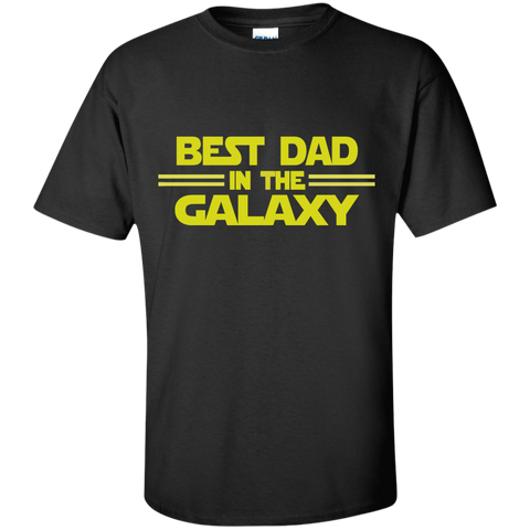 Best Dad in the Galaxy Cotton T-Shirt