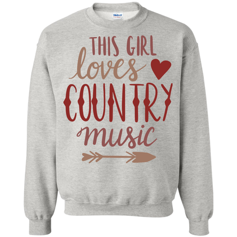 This Girl loves country music Sweatshirt