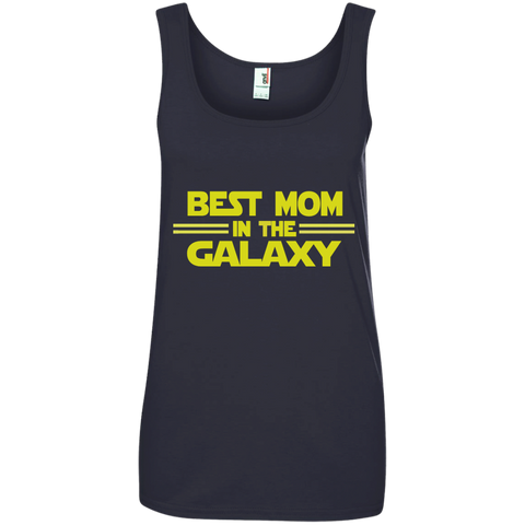 Best Mom in the Galaxy Ladies' 100% Ringspun Cotton Tank Top