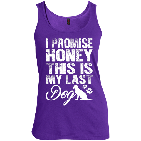 I Promise Honey this is my Last Dog  Scoop Neck Tank Top