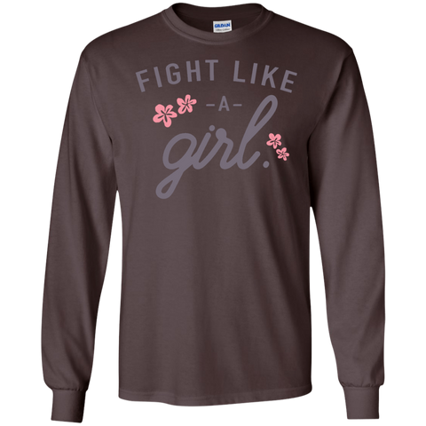 Fight Like a Girl  LS   T-Shirt