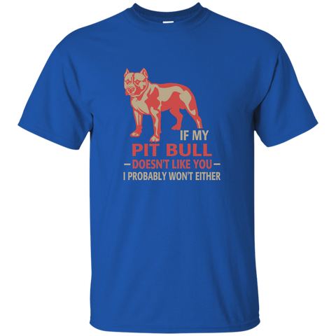 If my pit bull doesn't like you I probably wont either  T-Shirt