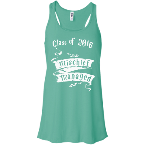 Mischief Managed Class of 2016  +Canvas Juniors Flowy Racerback Tank