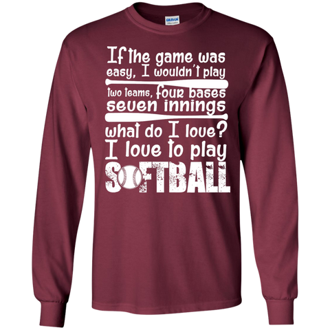 I love to Play Softball  Ultra Cotton Tshirt