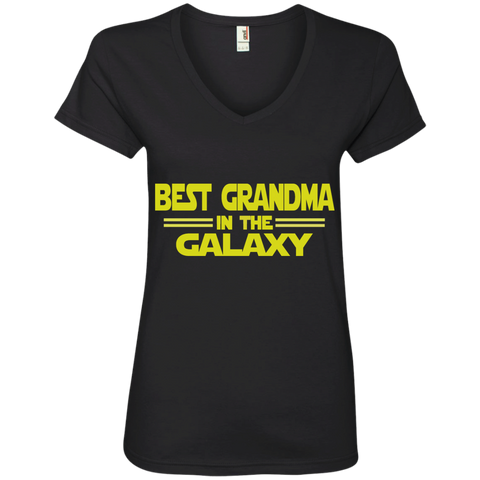Best Grandma in the Galaxy Ladies' V-Neck Tee