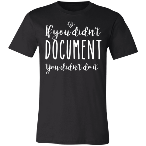 If you didn't document you didn't do it .  T-Shirt