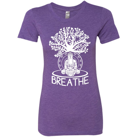 Yoga Breathe Ladies Triblend T-Shirt