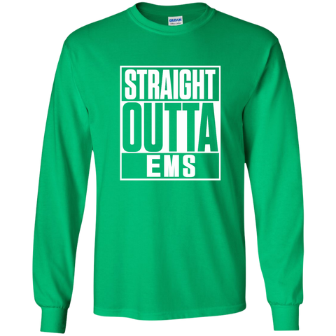 Straight Outta EMS LS Ultra Cotton Tshirt