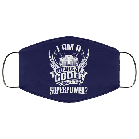 Superpower Medical Coder  Face Mask