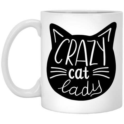 Crazy Cat Lady  11 oz. White Mug
