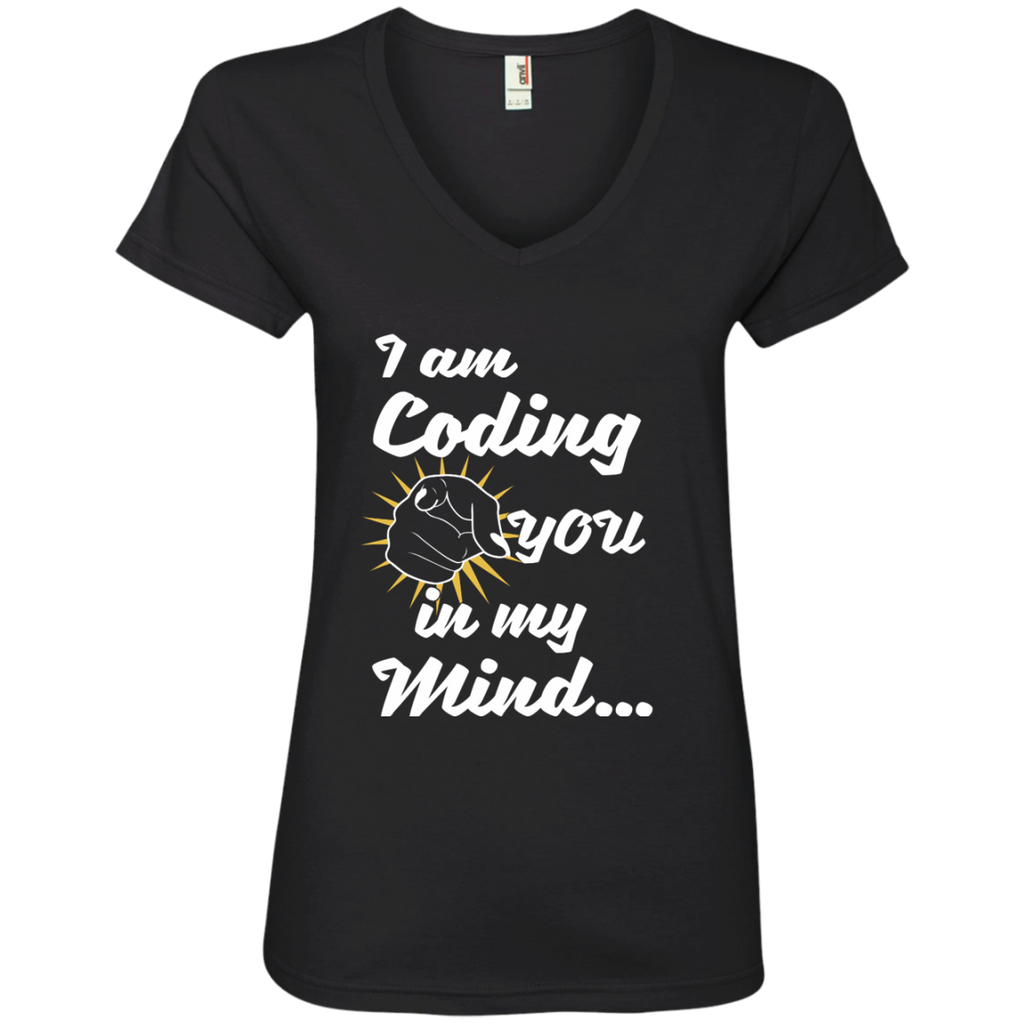 I am Coding You in my Mind Ladies' V-Neck Tee