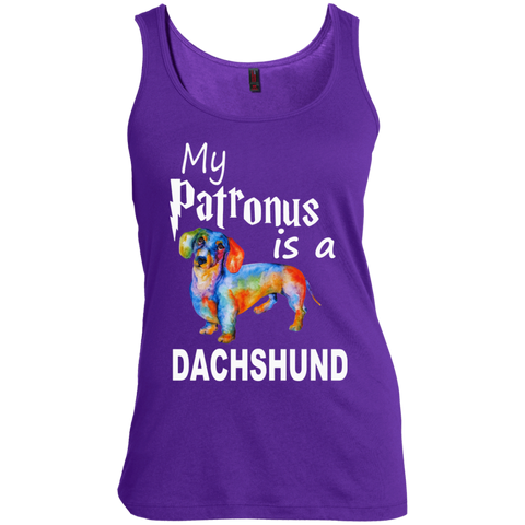 My Patronus is a Dachshund  Women's  Scoop Neck Tank Top