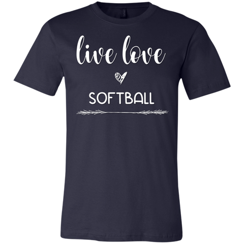 Live Love Softball  T-Shirt