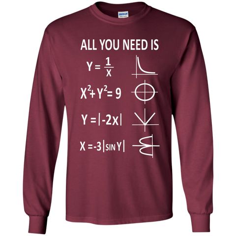 All You need is Love Math LS Ultra Cotton Tshirt