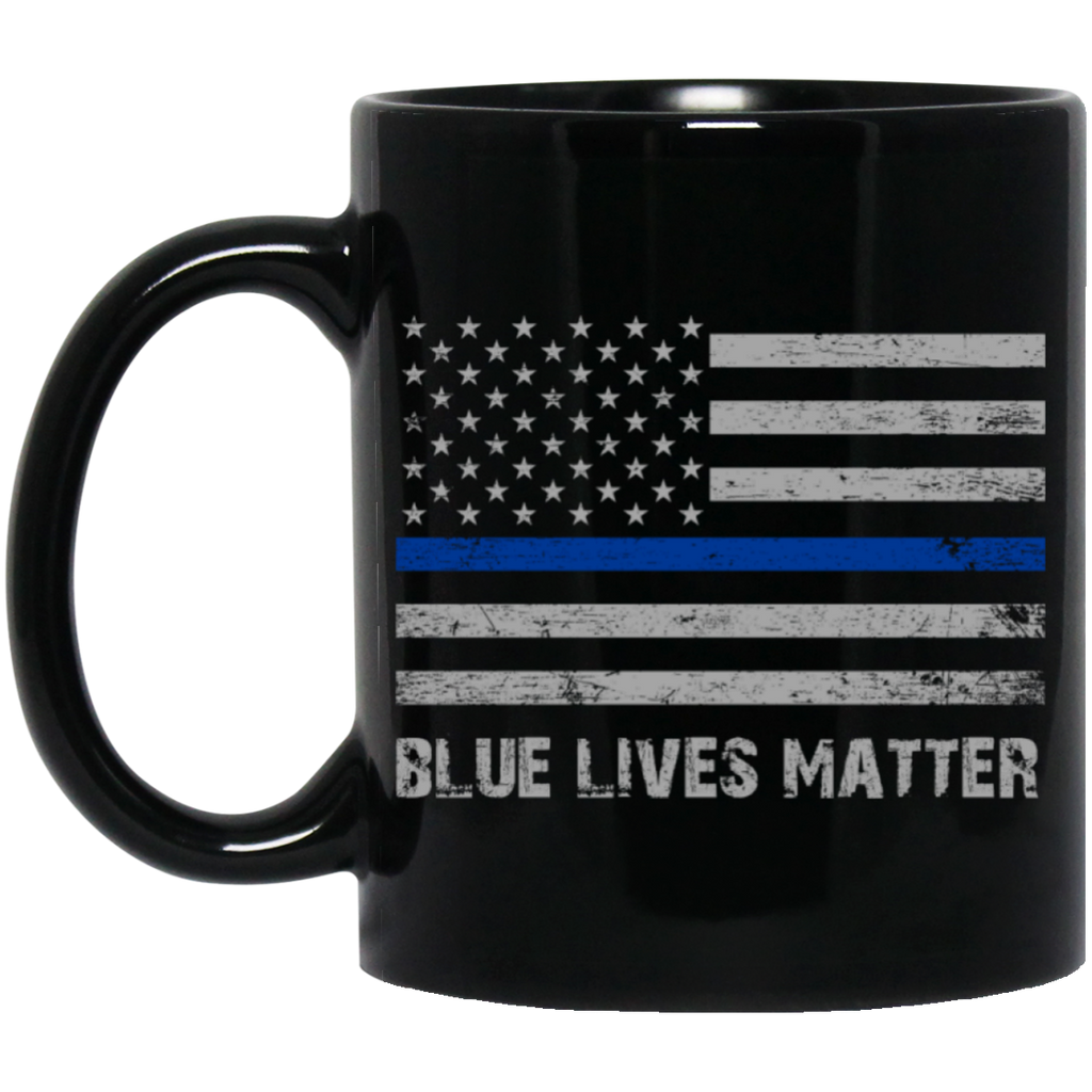 Blue lives matter  Black  11 oz. Mug