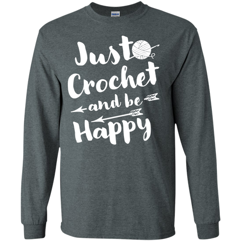 Just Crochet and be Happy Cotton Tshirt