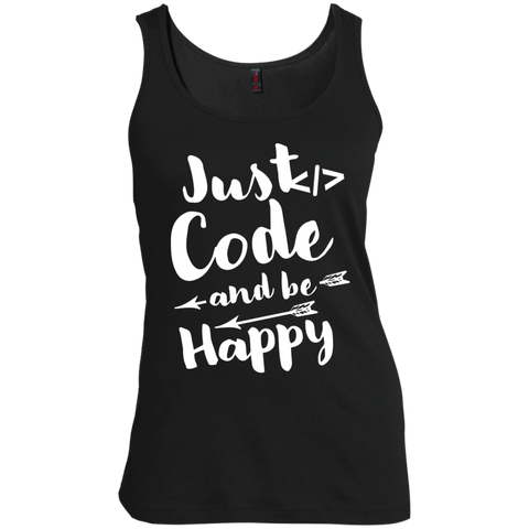 Just Code and Be Happy  Women's  Scoop Neck Tank Top