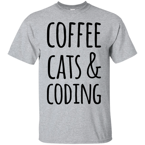 Coffee Cats & Coding  T-Shirt