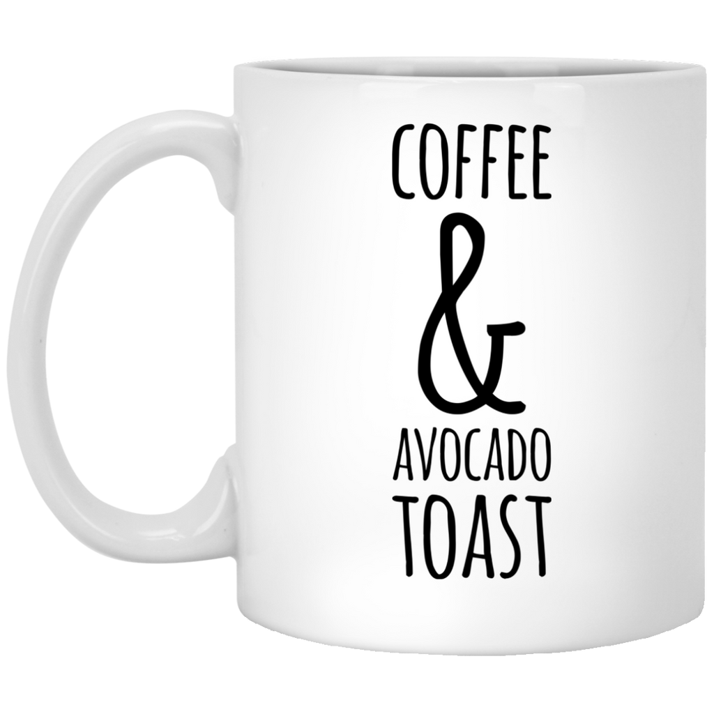 Coffee and avocado toast   Mug