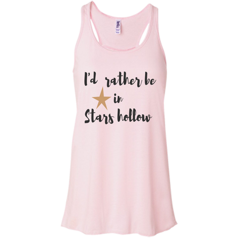 I'd rather be in stars hollow Flowy Racerback Tank
