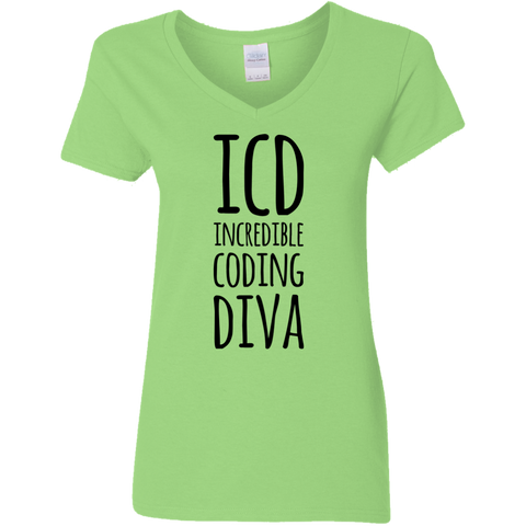 ICD Incredible Coding Diva Ladies V Neck