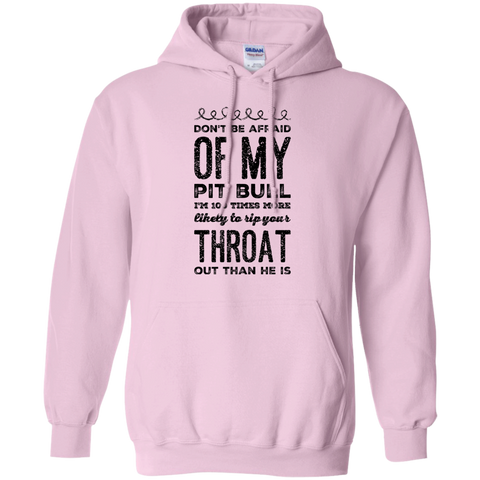 Don't Be afraid of my pit bull  I'm 100 times more likely to rip your throat out than he is Hoodie